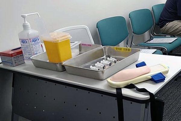 コロナワクチン実習